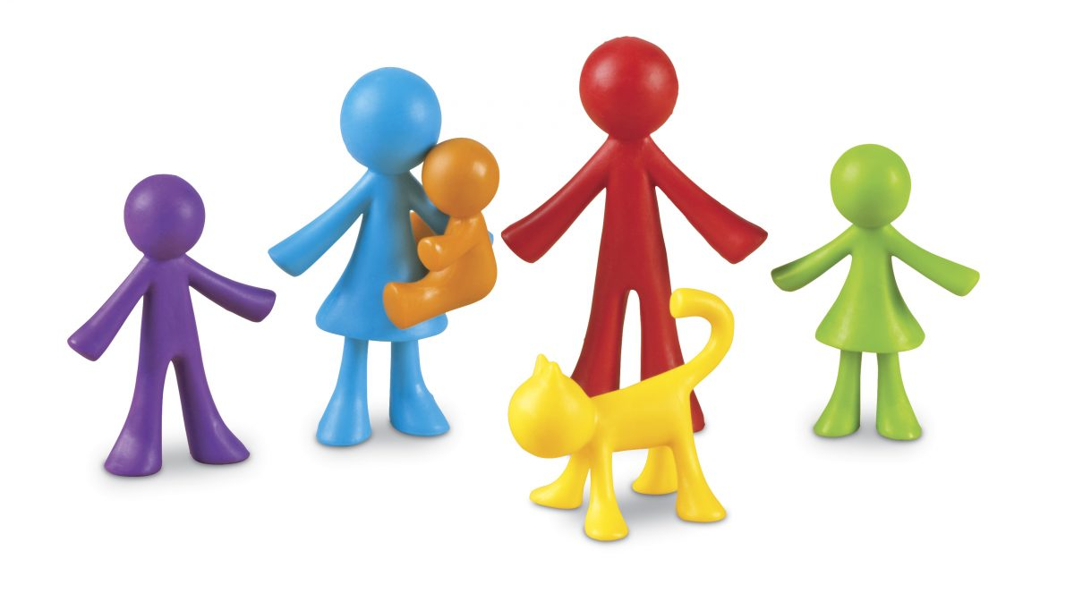 Картинка с разноцветными человечками